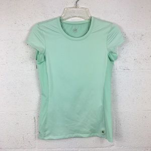alō Cool Fit Mint Green Short Sleeve Tee, Size S